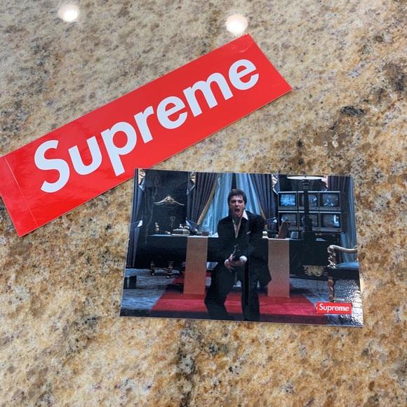 ❤️SUPREME STICKERS❤️ classic supreme & Scarface